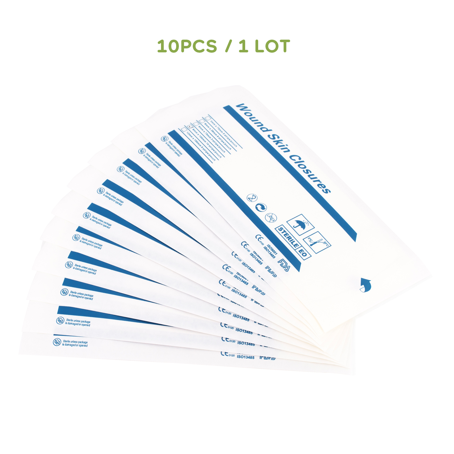 10pcs/Lot Adhesive Wound Closures Wound Closure Strips First Aid Accessories