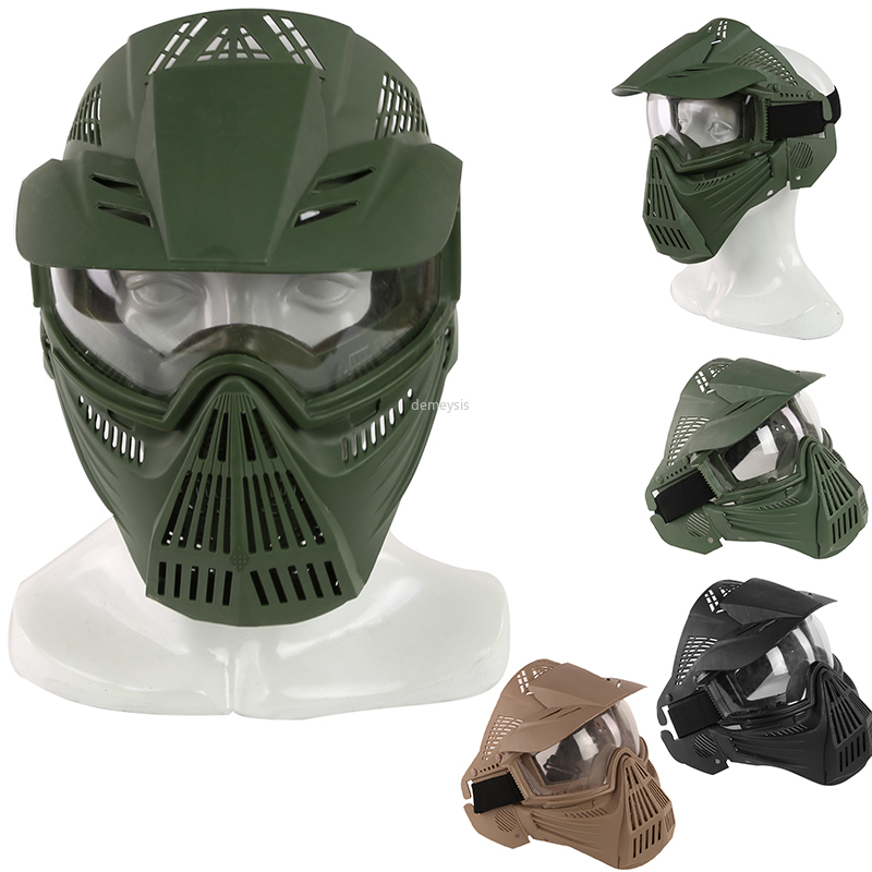 Tactical Full Face Mask Army Military Airsoft Mask Paintball Mask With Lens CS Hunting Protection Masks Paintball Accessories