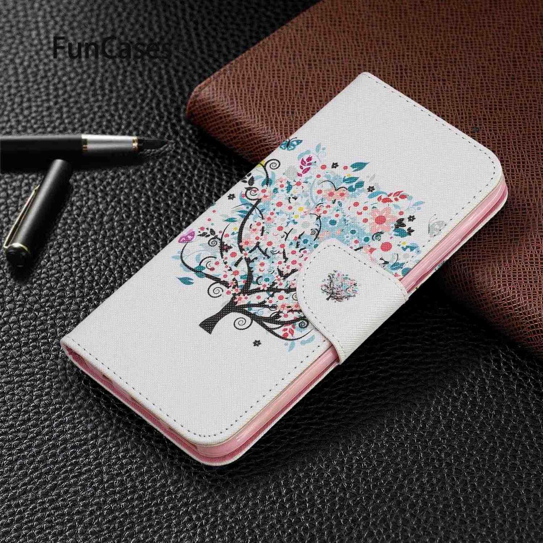 حافظة جميلة لهاتف eتوي Huawei Nova 5i حافظة مجردة من جلد البولي يوريثان حافظة كتب لهواتف Fundas Huawei telefoon P20 Lite 2019 huawey