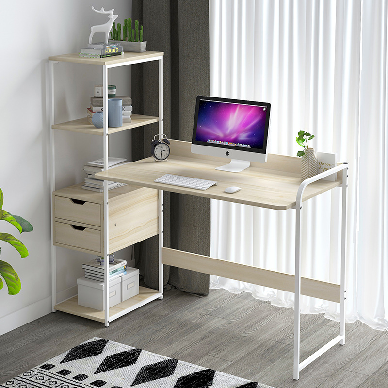 Computer Table Computer Desktop Table Student Household Economical Bookcase Desk Combination One-piece Doing Homework Table