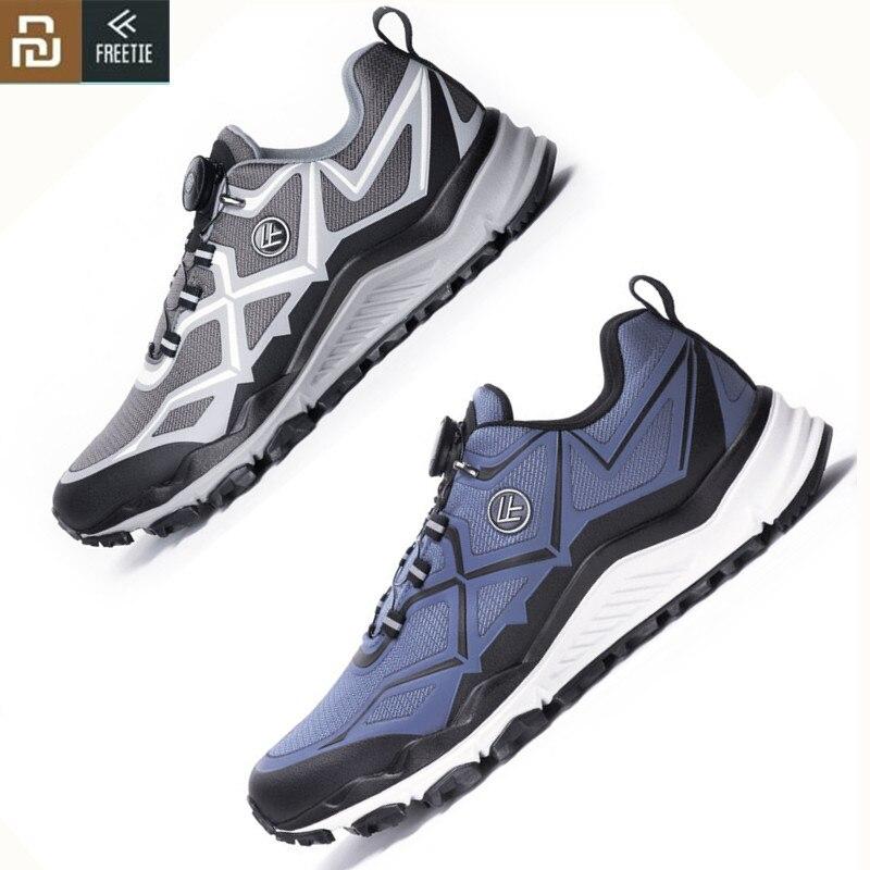 Youpin FREETIE мужские кроссовки с ремешком на ручке для занятий спортом на открытом воздухе xiaomi mijia кроссовки для бега Высокая амортизация прогулочная обувь Беговая обувь      АлиЭкспресс