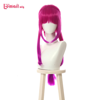L-email wig LoL Elderwood Ahri Cosplay Wigs Long Braid Mixed Hot Pink Gradient Wig Heat Resistant Synthetic Hair Perucas - discount item 40% OFF Hair Extensions & Wigs