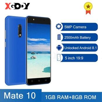 XGODY 3G Smartphone Android Unlocked Cellphone 1GB RAM 8GB ROM 5'' Mobile Phones Original New 5MP Camera GPS WiFi 2020 Mate 10