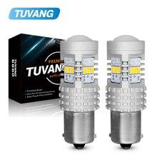 цена на 2x BA15S W21/5W 1156 LED S25 1157 BAY15D 7440 7443 W21W 3020 Chip Car Tail Brake Light Reverse Lamp DRL Rear Parking Bulbs