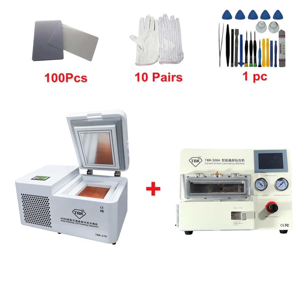 LY TBK 578 Mini desktop LCD freezing Separator Separating machine For iPhone Tablet Screen Repair Refurbishment with 508A kit
