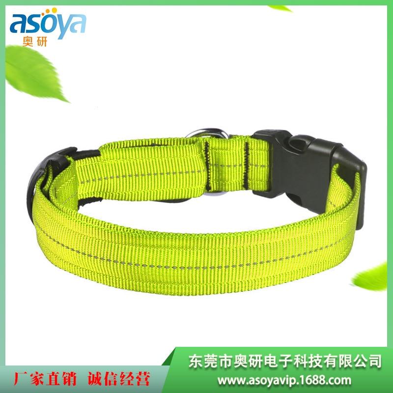 LED Luminous Pet Collar Dog Completely Outdoor Shining Collar Night Outdoor Pet Anti-loss Neck Ring