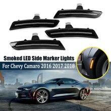 4 шт. дымчатый светодиодный передний задний Боковой габаритный фонарь для Chevy Camaro улучшает спортивный вид a n d