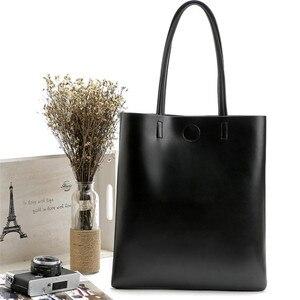 Image 2 - 2020新ファッション女性革ハンドバッグショルダーバッグ黒大容量の高級トートバッグデザイン因果バケット高品質