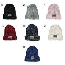 Женская шапка унисекс из хлопка; однотонные теплые мягкие вязаные шапки в стиле хип-хоп; мужские зимние шапки; женские шапки-бини для девочек; Новинка; W1