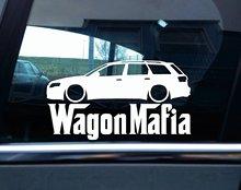 Наклейка с силуэтом мафии для Audi A4, RS4 Avant (B7) WAGON