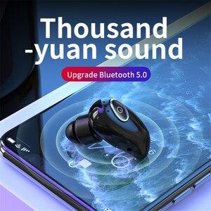Image 5 - V21 무선 블루투스 5.0 단일 미니 헤드셋 이어폰 스포츠 스테레오 이어폰 핸즈프리 블루투스 무선 이어 버드