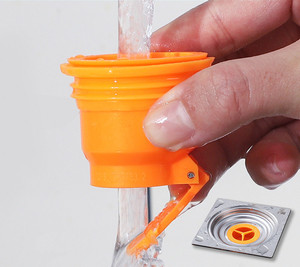 ABS 탈취제 배수 필터 주방 싱크 스트레이너 플러그 목욕 샤워 바닥 드레인 커버 파이프 하수구 배수구 욕실 액세서리