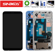 Sinbeda 5.5For LG Q7 LCD Display Touch Screen with Frame Q610 Digitizer Assemble For Q610YB LM-Q610YB