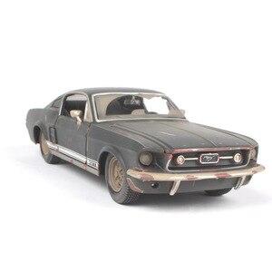 Image 5 - 2019 1 tot 24 auto model, de oude versie van de Ford Mustang GT legering model auto, simulatie auto decoratie