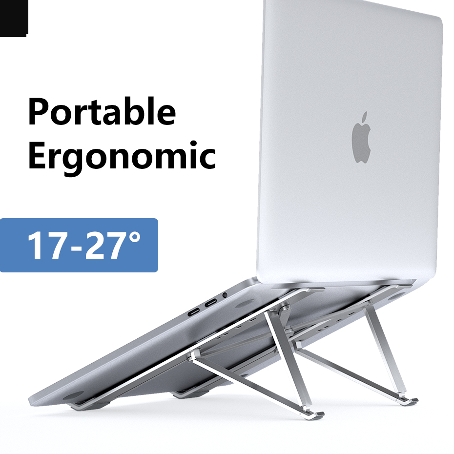 Adjustable 4 Angle X Style Bracket Folding Aluminum Laptop Stand Notebook Holder Desk For Macbook Pro Air 7-15 Inch Ergonomic