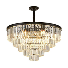 Luxury modern crystal chandelier black/gold living room dining room lighting round luxury villa decoration chandelier chandelier lighting modern crystal lights export k9 crystal chandelier candle chandeliers crystal villa living room chandelier