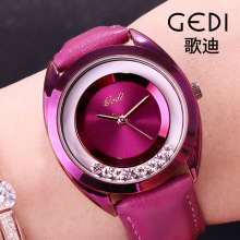 Point Diamond Watch Women Luxury Top Brand Leather Belt Leis