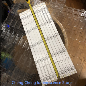 Image 1 - 10PCS/lot  FOR Changhong 49 inch LCD TV backlight strip use LB C490F14 E4 L G1 DL1 49D2000 LB49006  C490F15 E2 L 10LED=97CM  3V