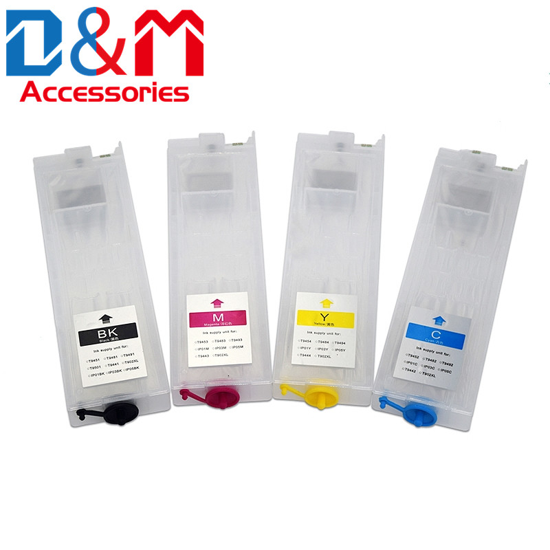 1Set Refillable Ink Cartridge T948 T948xl T9481 T9482 T9483 T9484 For Epson Pro WF-C5290 WF-C5790 WF-C5210 WF-C5710 Ink Tank