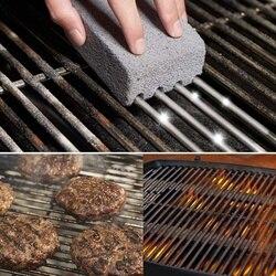 8Pack Grill Griddle Cleaning klocek Brick magiczny kamień pumeks grillowanie Cleaner akcesoria do grilla  stojaki  płasko zakończony w Szczotki do czyszczenia od Dom i ogród na