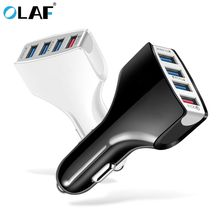 OLAF Car Charger Quick Charge 3.0 Car-Charger 4 Ports Fast Car phone C