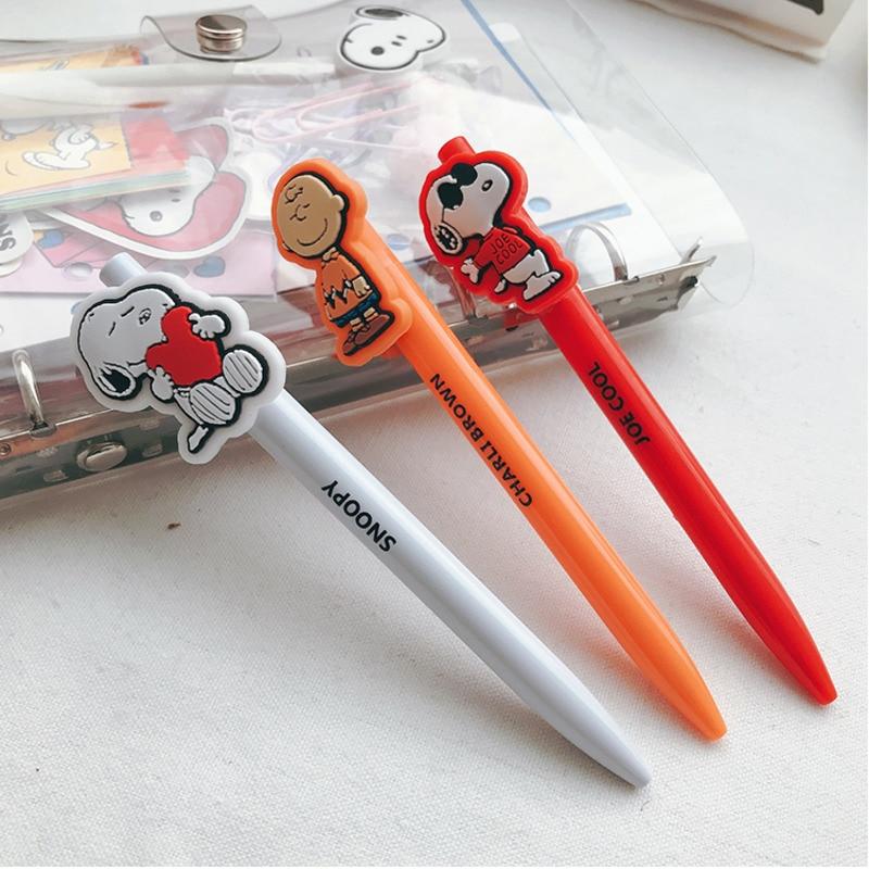 Creative Cartoon Neutral Pen Cute Rogue Dog Snoopys Press Neutral Pen 0.5mm Black Pen Signature Pen Student Stationery