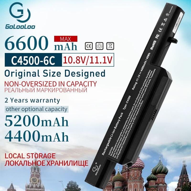 11.1V  Battery For Clevo C4500BAT-6 C4500BAT 6 C4500BAT6 C4500 C4500Q C5100Q C5105 C5500Q W150 B4100M B4105 B5100M B5130M B7110