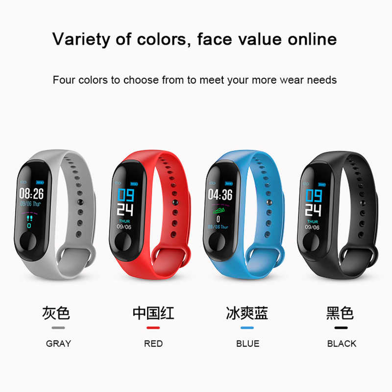 LEMFO M3 الذكية الفرقة جهاز تعقب للياقة البدنية الرياضة ساعة ذكية الرجال والنساء معدل ضربات القلب ضغط الدم رصد سوار صحي