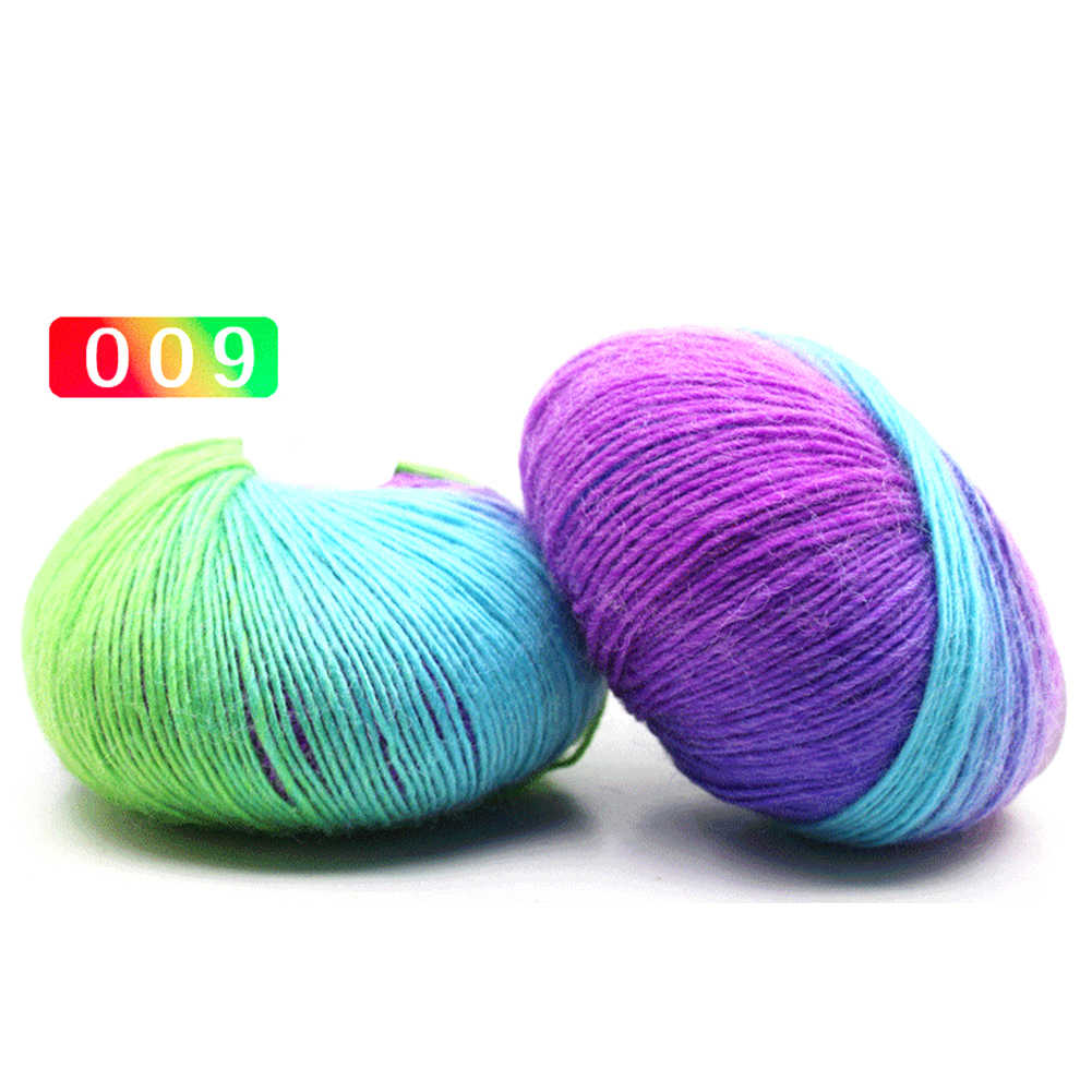 VOOYE Soft Candy Rainbow Style Sock Wool Yarn Hand Knitting Yarn Warm School Yarn For Knitting Crochet