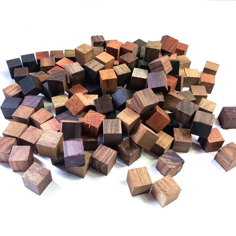100 шт./50 шт., пиксельные блоки из сандалового дерева 2 х2х2 см