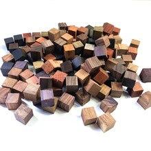 Bloques de madera de sándalo de 2x2x2 cm, bloques de píxeles para decoración DIY, bloques de cubo mágico, 100 Uds./50 Uds.