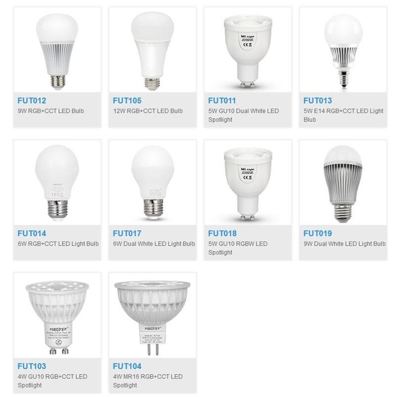 Miboxer  FUT103/FUT104/FUT013/FUT014/FUT105/FUT012/FUT013/FUT011/FUT017/FUT018/FUT019 4W 5W E14 GU10 MR16 E27 LED Bulb Spotlight