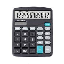 Black 12 Digit  Large Screen Calculator Fashion Computer Financial Accounting @M23