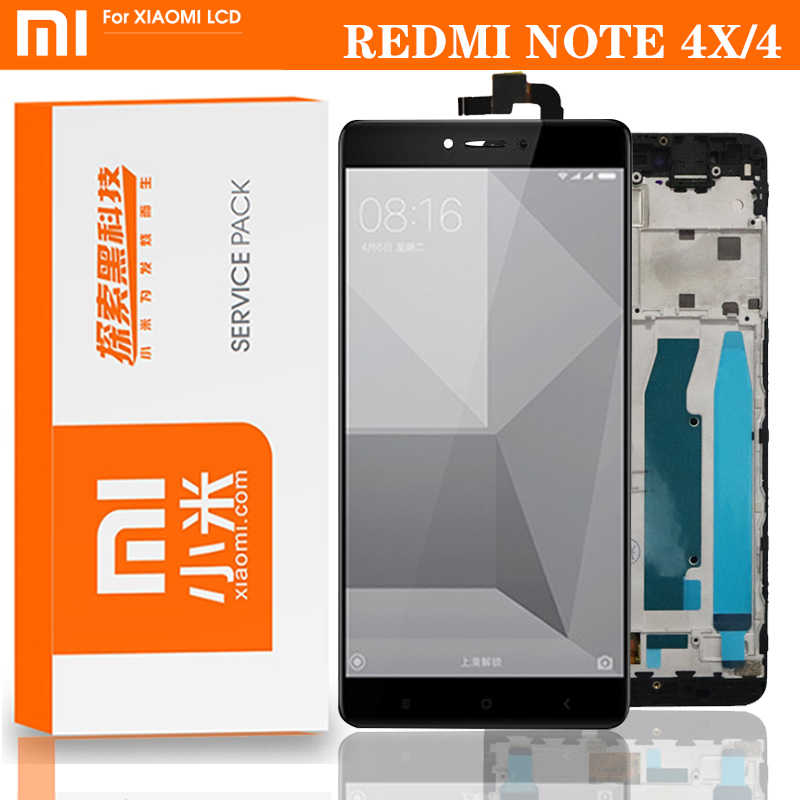 Originele Voor Xiaomi Redmi Note 4X/4 Global Lcd Touch Screen Vervanging Snapdragon 625 Octa Core Display 5.5''