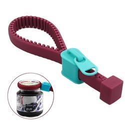 New Silicone Bottle Opener Non-slip Zipper Screw Cap Jar Openers Multi Purpose Kitchen Bar Gadgets Bottle Lid Can Opener