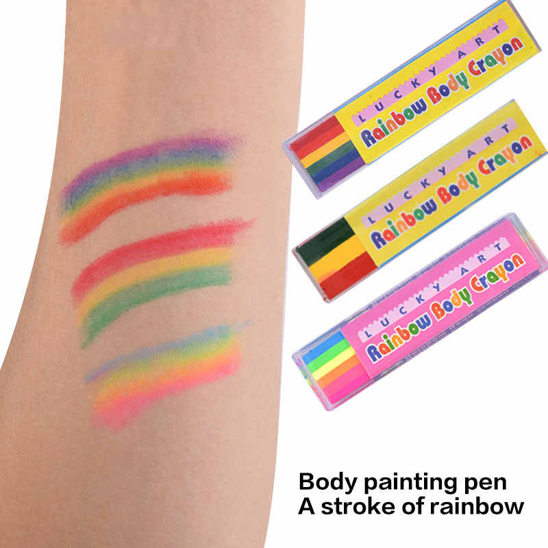 New Body Painting Toys Uv Body Art Painting Makeup Paint Rainbow Art Tattoo Paint For The Face Paint Colored Child Kids Toy Hot Aliexpress