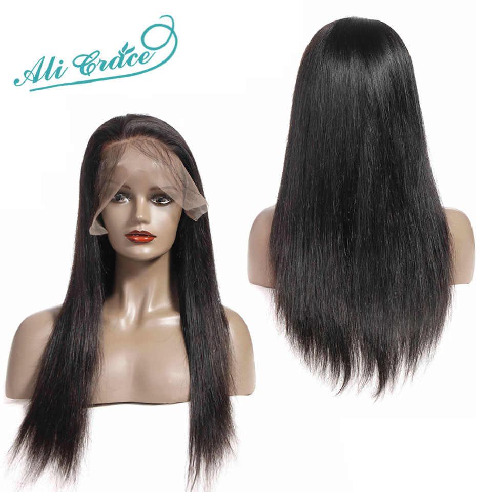 Парики из искусственных волос без шапочки-основы прямые парики из натуральных волос на кружевной основе парики для черных женщин невидимые узлы Искусственные парики на кружевной основе Ali GRACE