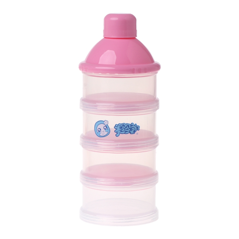 Baby Milk Powder Container Portable Formula Food Storage Dispenser 4Layer Makeup