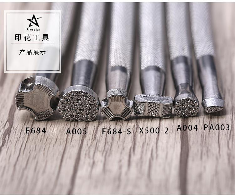 Купить с кэшбэком Leather Engraving Tools Leathercraft Patterns Tool Stamping Embossing Stamp Making Machine Dies Leatherwork Tooling Patterns