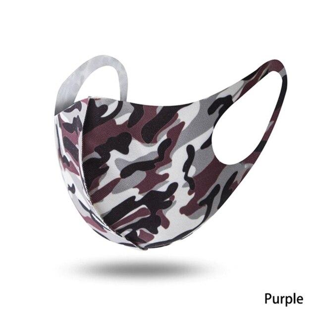 1PCS Unisex Washable Reusable Anti-dust Mouth Face Masks Camouflage Sponge Mask Anti Cold Mask Humanized Design 1