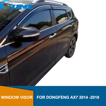 smoke Car Side Window Deflectors For DONGFENG AX7 2014 2015 2016 2017 2018  Sun Shade Awnings Shelters Guards accessories SUNZ