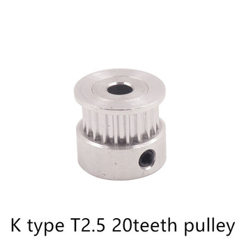 T2.5 Timing Pulley 20 teeth Bore 4mm 5mm 6.35mm for width 6mm Synchronous Belt Small backlash 20Teeth image