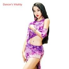Belly Dance Practice Clothes Oriental Top Skirt with Underpants Set Beginner Spring Summer Sexy Women Oriental Dance Wear