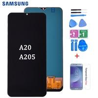Para samsung galaxy a20 a205 SM A205F a205fn display lcd digitador da tela de toque assembléia frete grátis|LCDs de celular| |  -