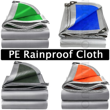 Zagęścić plandeki PE przeciwdeszczowe tkaniny na zewnątrz baldachim markizy tkaniny wodoodporny namiot plandeki płótno ciężarówka samochód Tarp arkusz tanie i dobre opinie CN (pochodzenie) Odcień żagle obudowa nets NNW-YLPEFYB Powlekany pcv PE Coated Tarpaulin Rainproof Cloth Silver Blue Silver Orange Silver Green