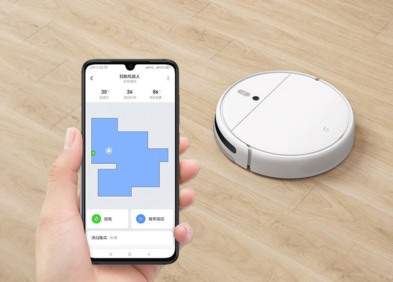 Hed99a323ec4b4625a59d96b764f453daa XIAOMI MIJIA Mi Sweeping Mopping Robot Vacuum Cleaner 1C for Home Auto Dust Sterilize 2500PA cyclone Suction Smart Planned WIFI