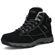 Luxury Brand High Top Shoes Winter Men's Boots Casual Sneakers Lace Up Safety Work Man Snow Booties Big Size 46 Chaussures Homme