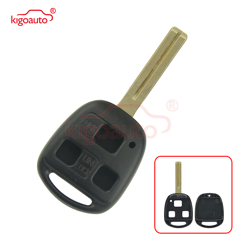 Kigoauto 3 button TOY48 for <font><b>Lexus</b></font> <font><b>RX300</b></font> RX330 RX350 RX400H <font><b>1998</b></font> 1999 2000 2002 <font><b>2003</b></font> replacement remote key shell case image