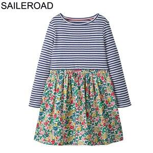 Image 2 - SAILEROAD เด็กหญิงชุดเดรสแขนยาว 2 7Years ดอกไม้พิมพ์ชุดเด็ก 2020 ฤดูใบไม้ร่วงเด็กวัยหัดเดินชุดเสื้อผ้าเด็ก