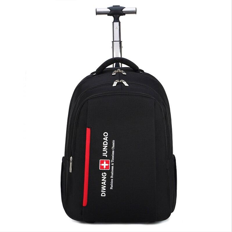 Backpack Swiss Multifunctional Boarding Case 2 In 1 Trolley Backpack Business Trip Bag Large Capacity Waterproof Suitcase Laptop